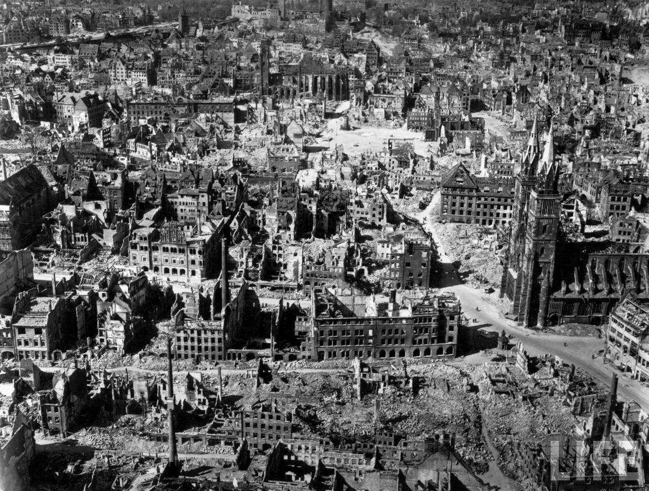 После войны Европа лежала в руинах