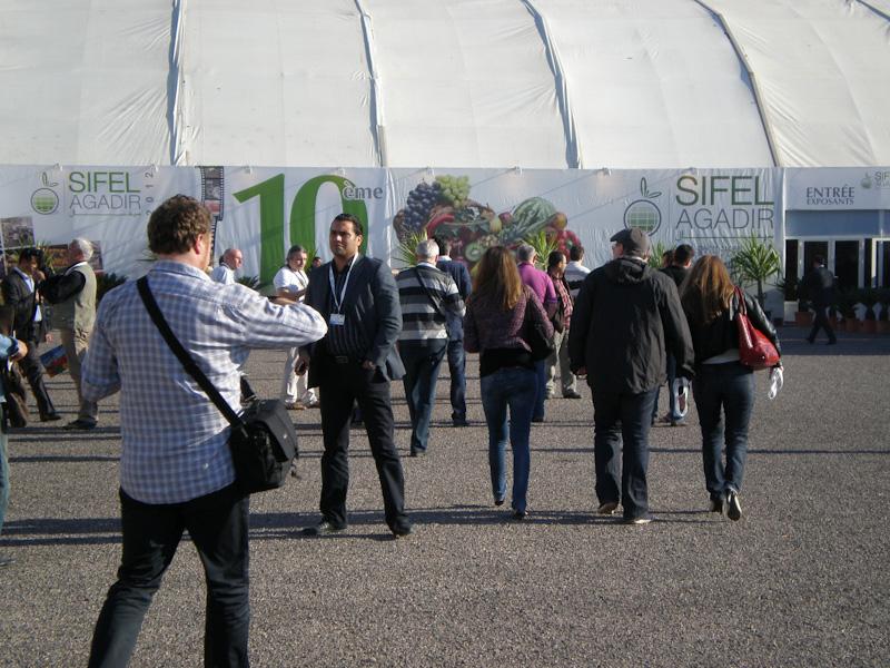 Главный вход 10-й выставки SIFEL Agadir