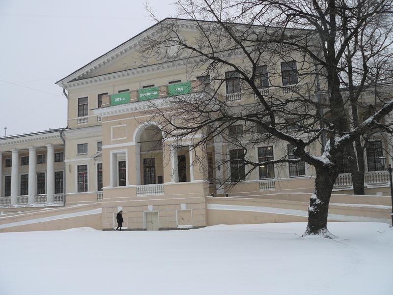 Здание ПГУПС в наши дни (бывший дворец князя Н.Б.Юсупова).