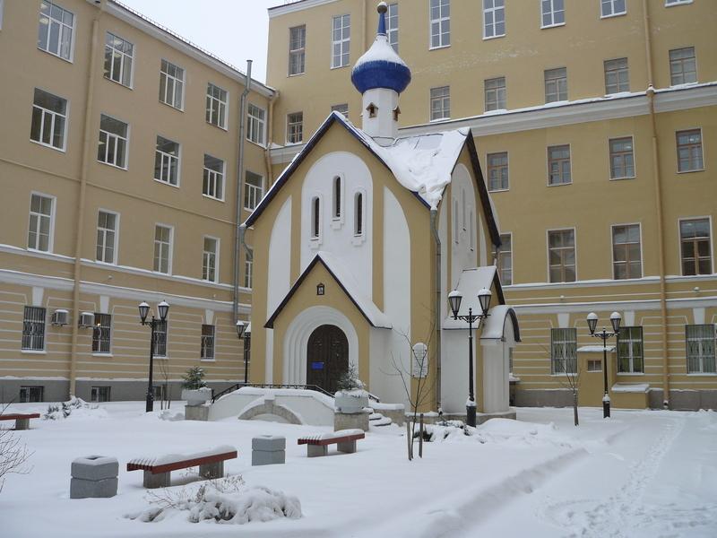 Церковь во дворе ПГУПС в наши дни.