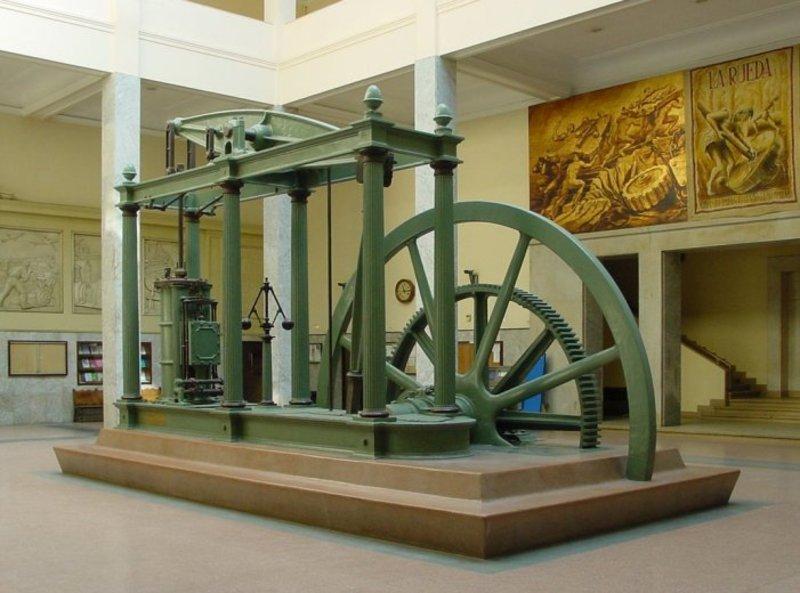 Макет паровой машины Дж.Уатта (для сравнения)