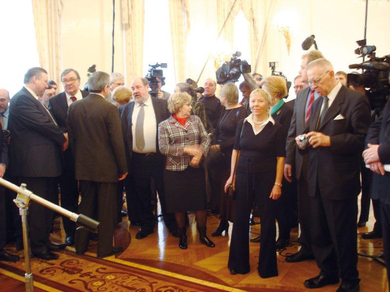 В Особняке МИД России на Спиридоновке по поводу передачи коллекции Хитрово собрались архивисты, дипломаты и журналисты